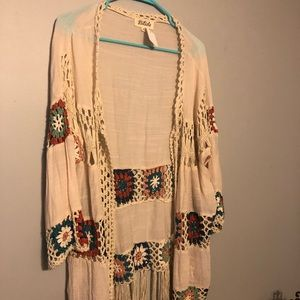 NWT Cream color duster